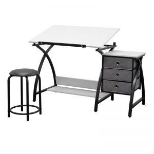 Premier Metal Art Drawing Drafting Table Side Storage