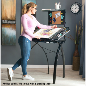 10067 Add leg extensions to use with a drafting chair