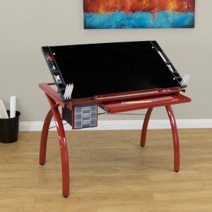 10076 Futura Craft Station Red Black Glass1