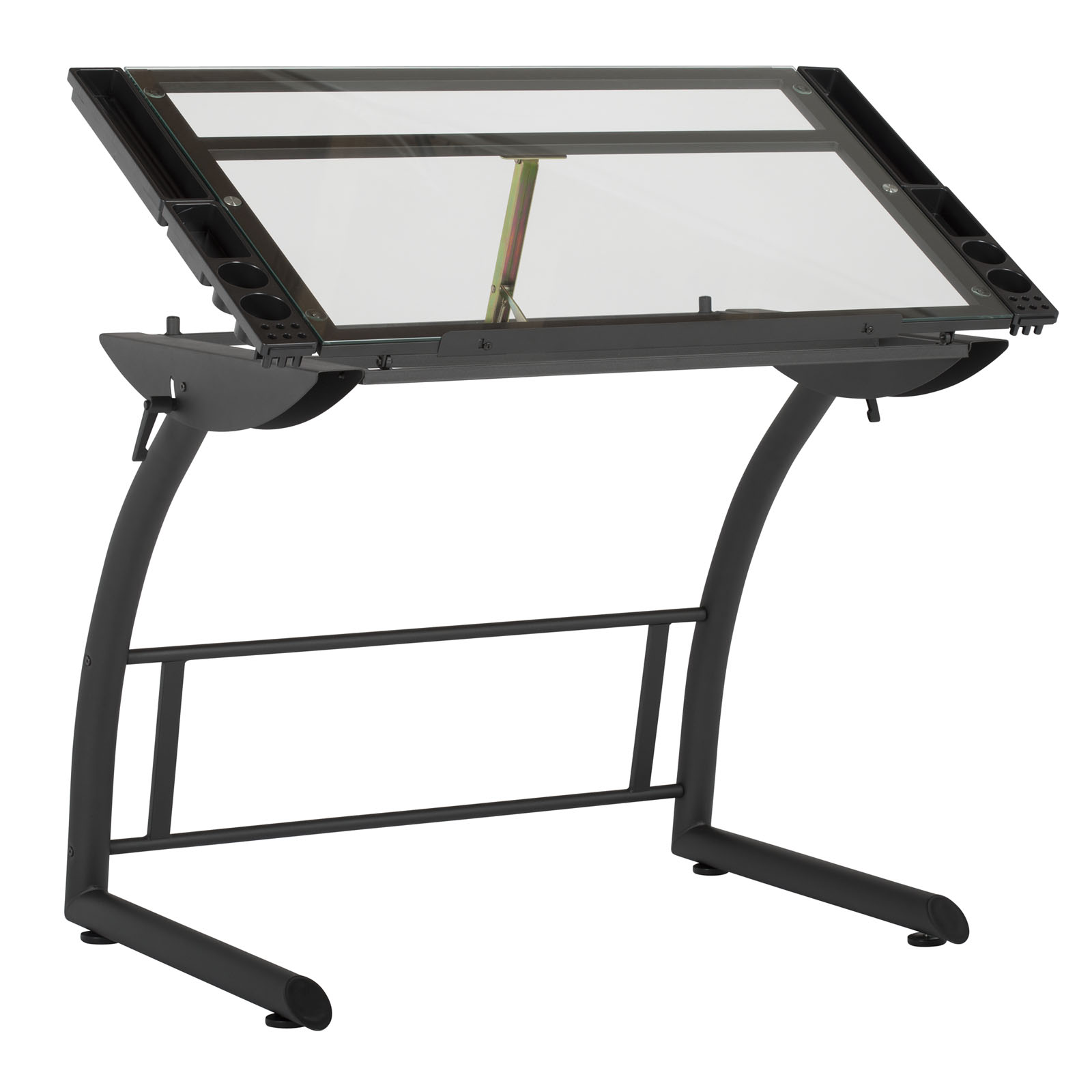 Sku 10088 Charcoal Clear Glass Drafting Drawing Tables