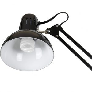 12022 Swing Arm Lamp Black with Bulb detail 2