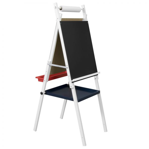 Kids Easel With Storage. SKU: 13212 White Category: Art Easels Tag: Wood  Easel