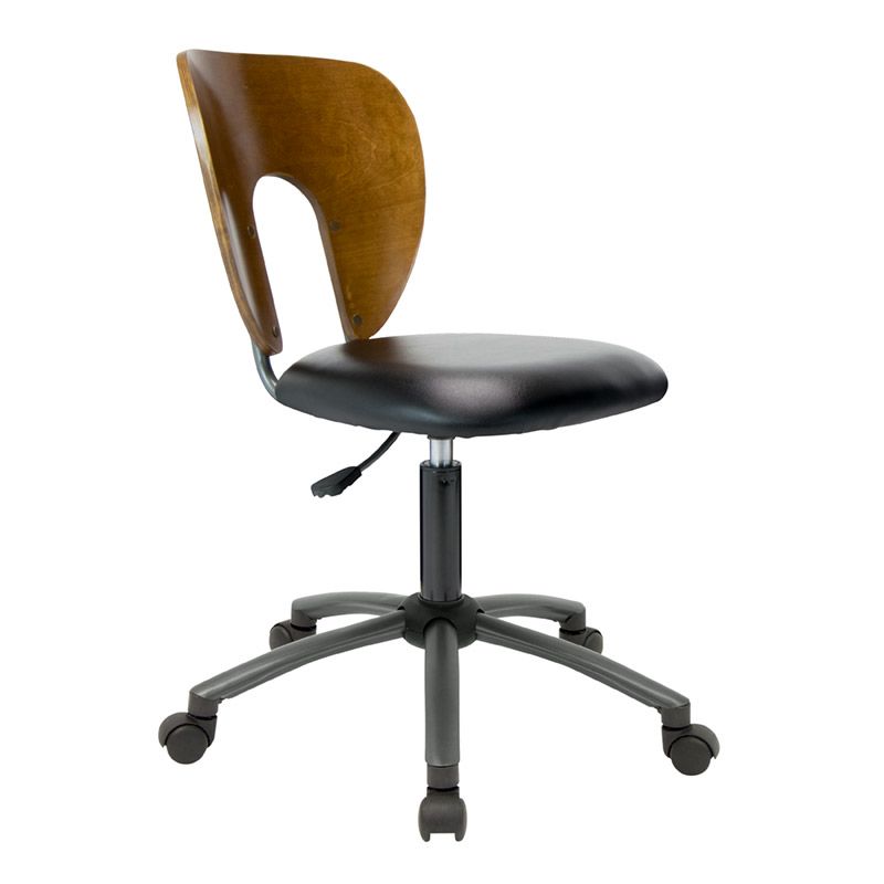 Ponderosa Office Task Chair With Wood Back In Sonoma Brown U2013 Item # 13249