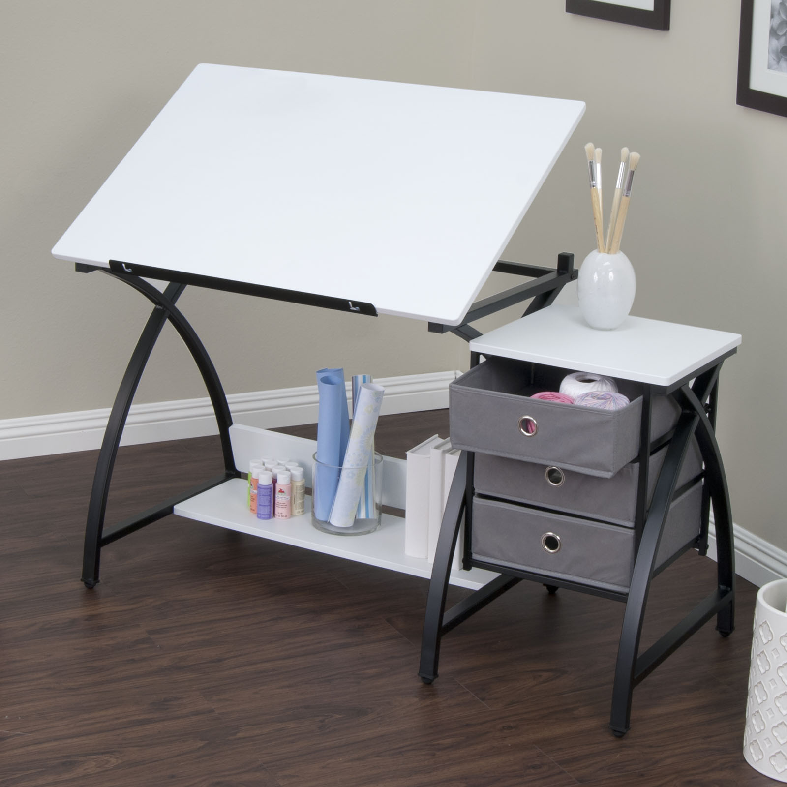 2 Piece Comet Craft Center Adjustable Top Table With