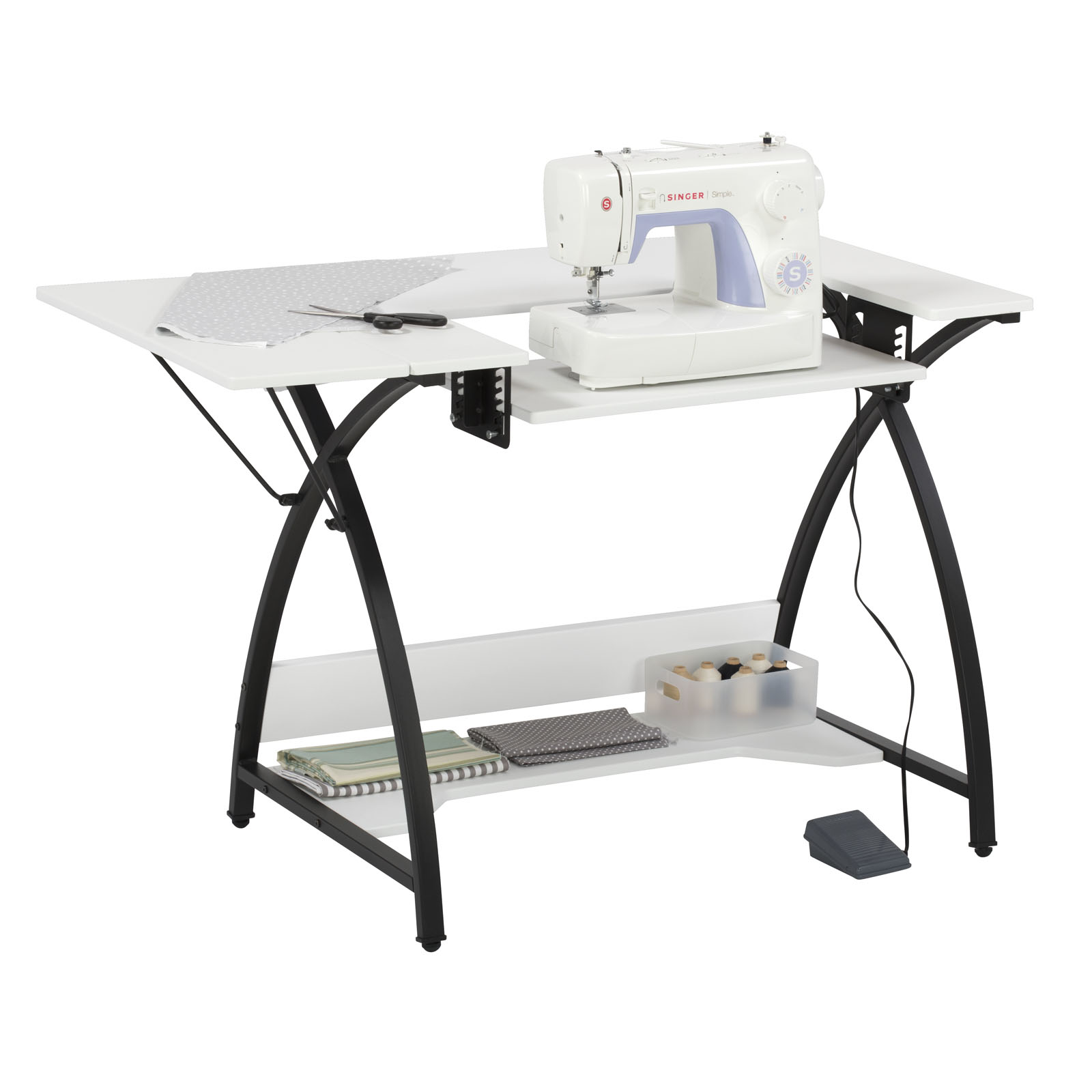Comet Hobby Sewing Machine Table In Black White Item