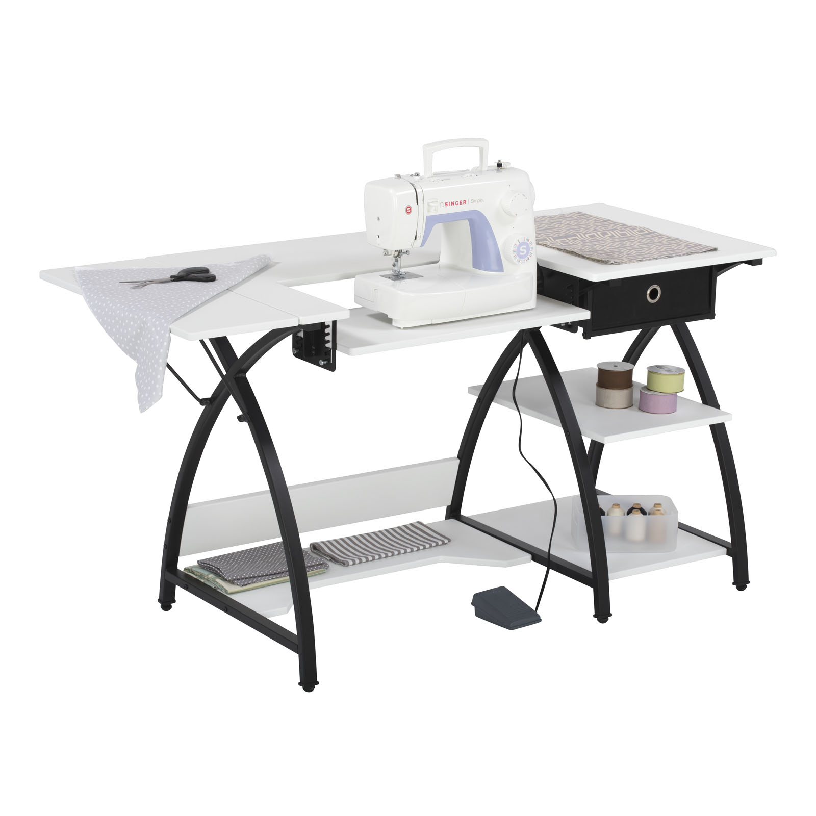 Comet Hobby / Sewing Machine Desk in Black / White – Item ...