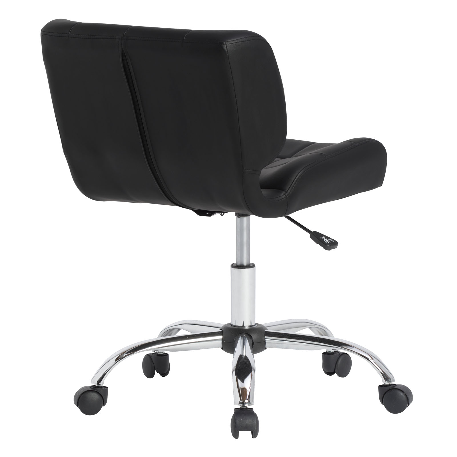 Black Crest Office Chair In Chrome Black Item 10658