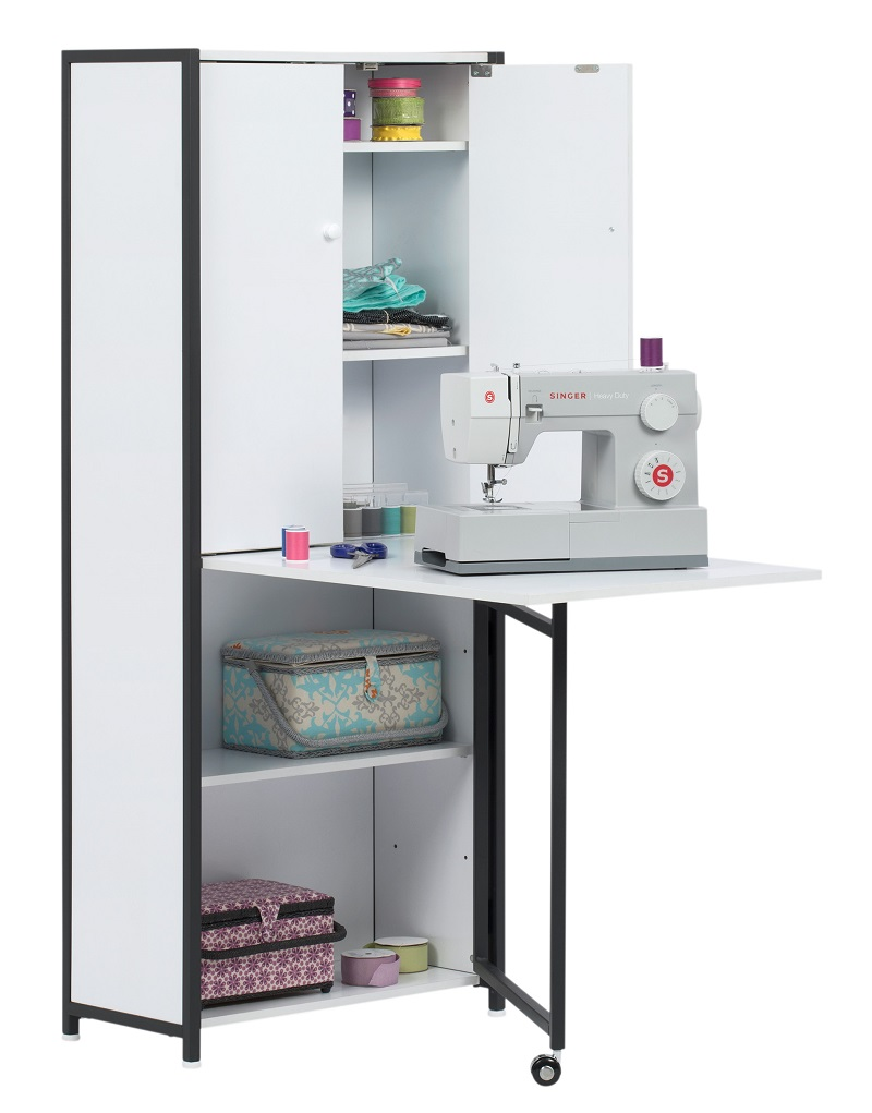 Craft Multi Room Storage Armoire With Table Top In