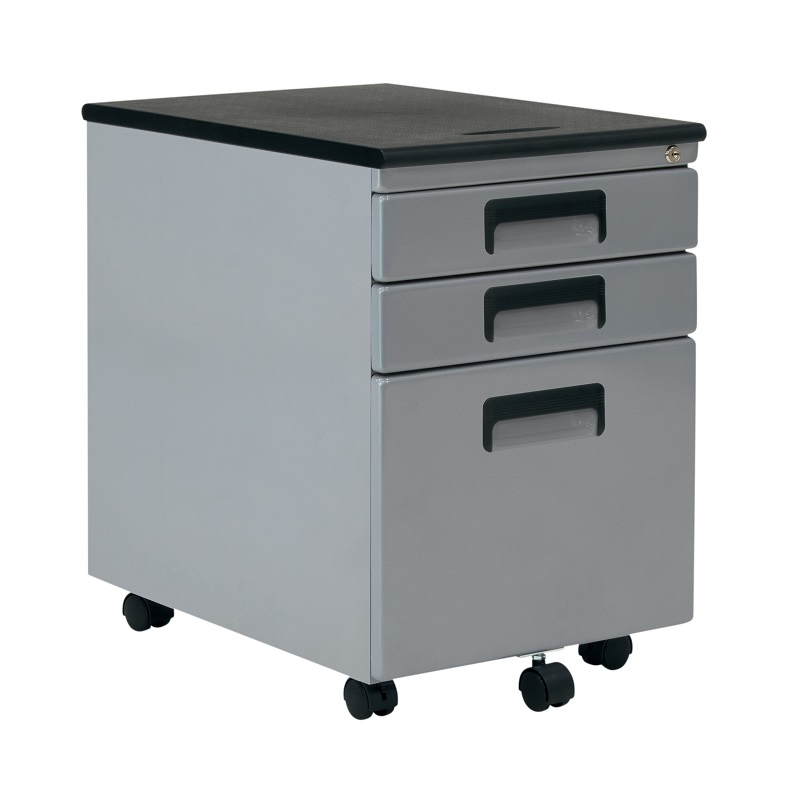 Vertical Metal Rolling File Cabinet with 3 Locking Drawers ...