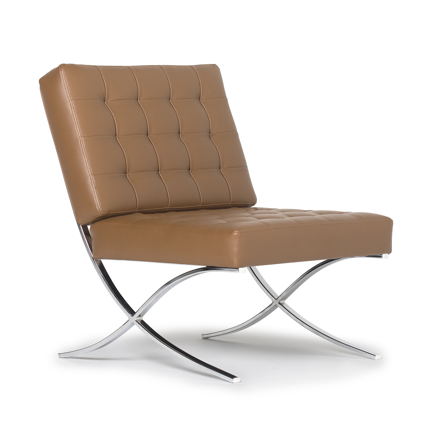 Tan Leather Accent Chair: Atrium Modern Bonded Leather Accent Chair In Caramel Brown