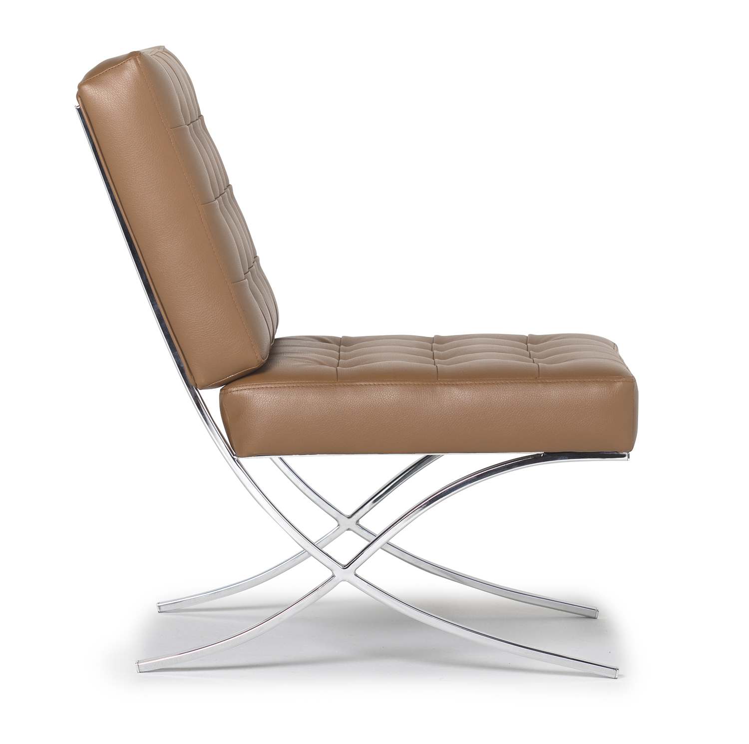 Leather Accent Chairs Metal Legs Caramel.Atrium Modern Bonded Leather Accent Chair In Caramel Brown Chrome