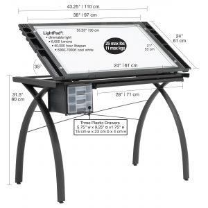 10062 Artograph Futura Light Table wDim